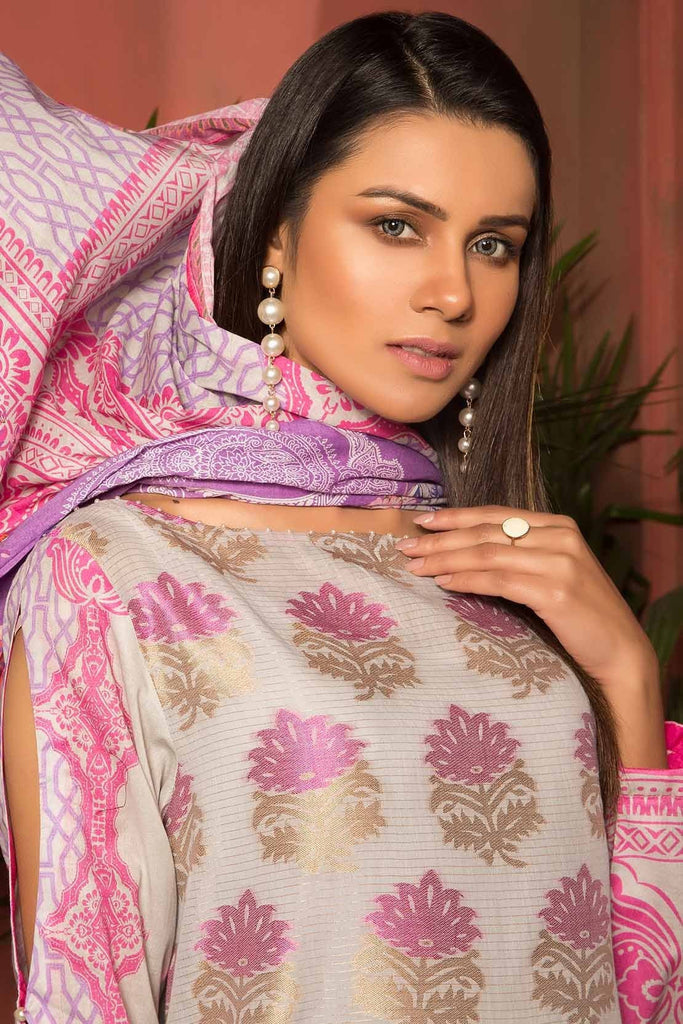 Warda Designer Collection - 3PC Jacquard with Digital Lawn Dupatta 3819066