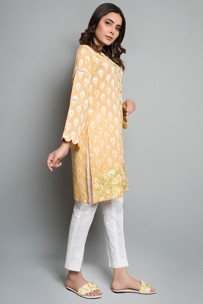 Single Shirt Solid Jacquard with Embroidery Solid Embroidery LS18192 - Pret - Warda Designer Collection