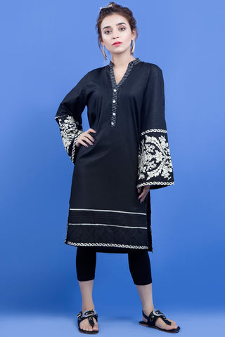 Warda Designer Collection - Single Shirt Solid Embroidery LS18998