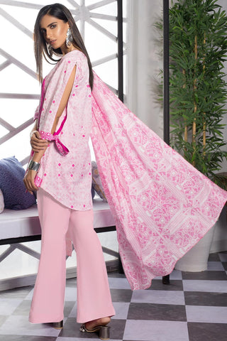 3PC Lawn Print 7.5 Meters 3819216 - Unstitched - Warda Designer Collection