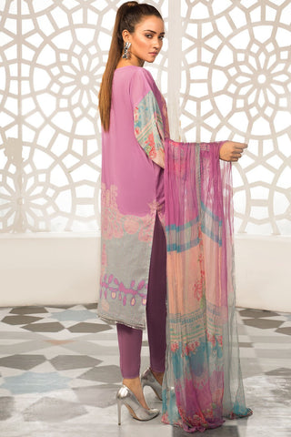 Warda Designer Collection - 3PC Lawn Kashmiri Embroidery with Chiffon Dupatta 3819266