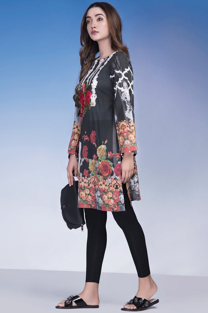 Single Shirt Lawn Embroidery LS18181 - Pret - Warda Designer Collection