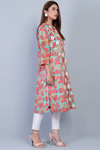 Warda Designer Collection - Single Shirt Print Embroidery LS19085