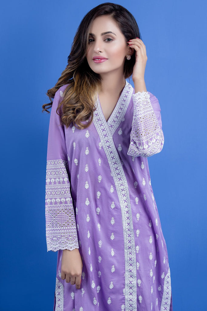 Warda Designer Collection - Single Shirt Solid Chikan Kari LS19090