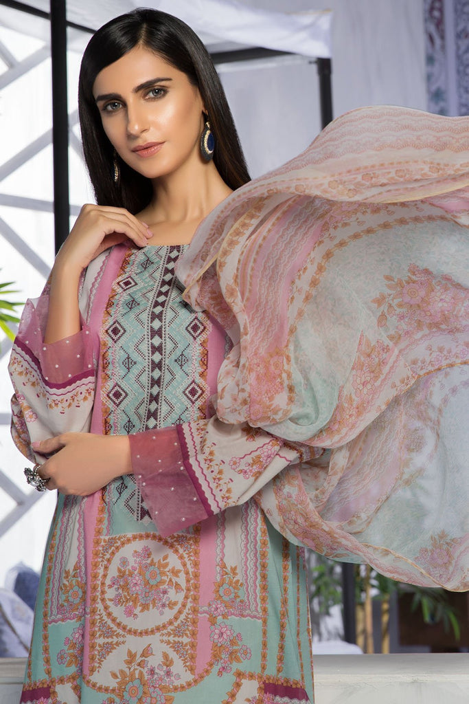 Warda Designer Collection - 2PC Chiffon Lawn Embroidery 259408A