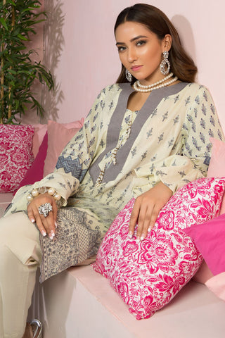 Warda Designer Collection - 3PC Chiffon Lawn Chikan Kari 3819421