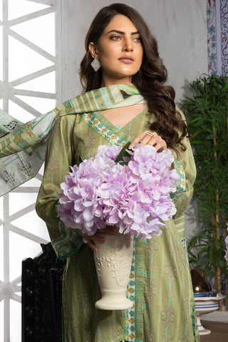 Warda Designer Collection - 3PC Lawn Print 7.5 Meters 389385A