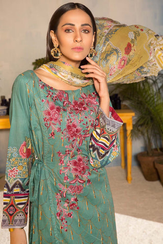 Warda Designer Collection - Incipient Flower 3PC Melange Swiss Voile Embroidery  3819095