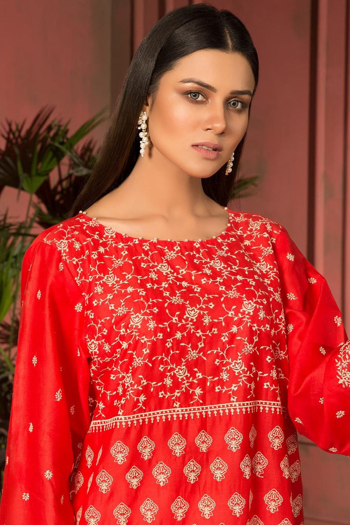 Warda Designer Collection - 2PC Lawn Chikan Kari 2559137