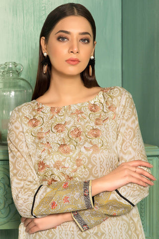 Single Shirt Lawn Embroidery 2.5 Meters 139131A