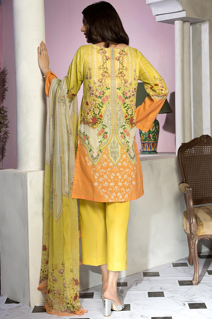 2PC printed Dobby embroidered shirt with printed Chiffon dupatta 2559513 - Unstitched - Warda Designer Collection