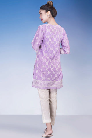 Single Shirt Solid Chikan Kari Emb LS18161
