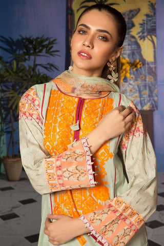Warda Designer Collection - 3PC Lawn Kashmiri Embroidery with Bamber Dupatta 3819085