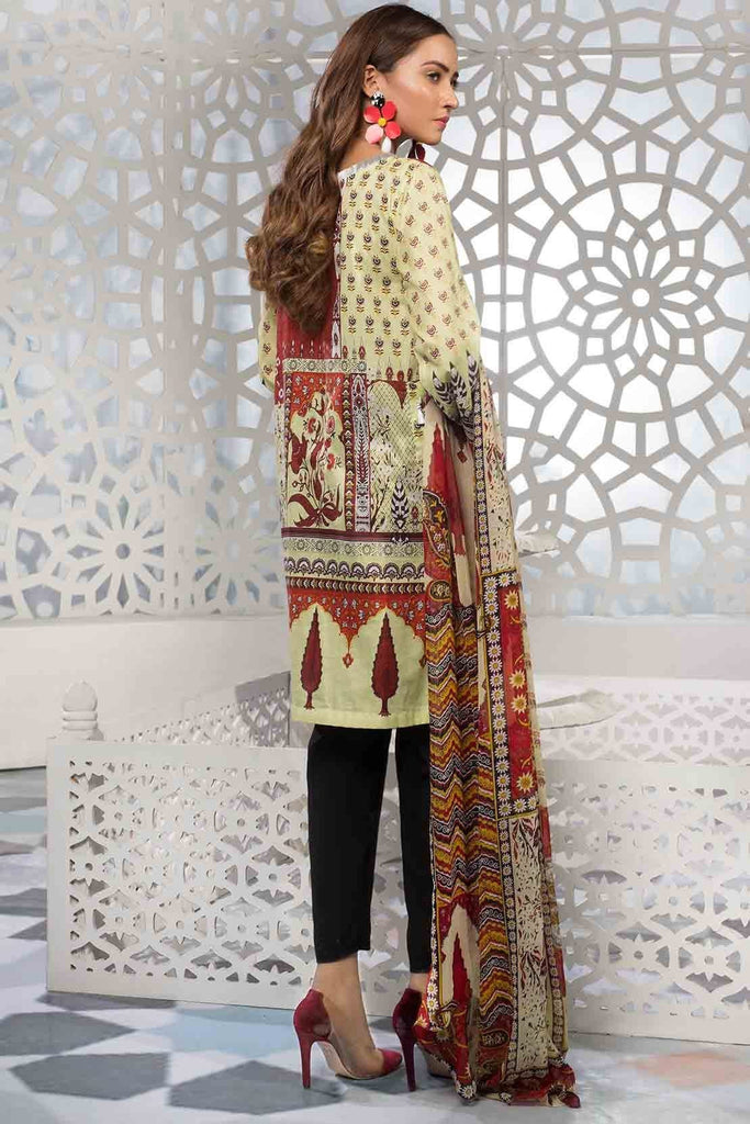 Warda Designer Collection - 2PC Lawn Embroidery with Chiffon Dupatta 2559197
