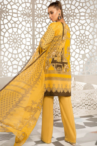 3PC Lawn Embroidery with Chiffon Dupatta 3819231 - Unstitched - Warda Designer Collection