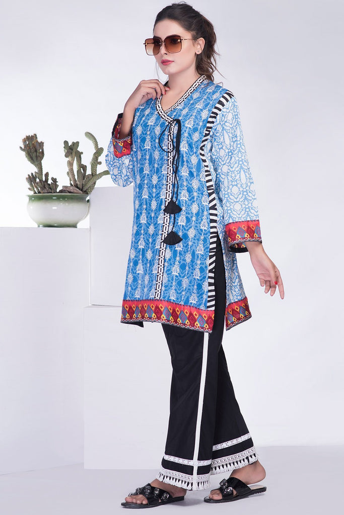 Single Shirt Lawn Chikan Kari LS18311