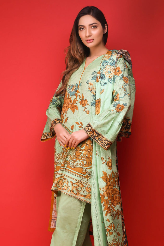 Warda Designer Collection - 3PC Lawn Print 3818162
