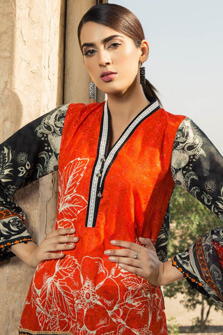 Warda Designer Collection - 2PC Lawn Embroidery with Chiffon Dupatta 3818348