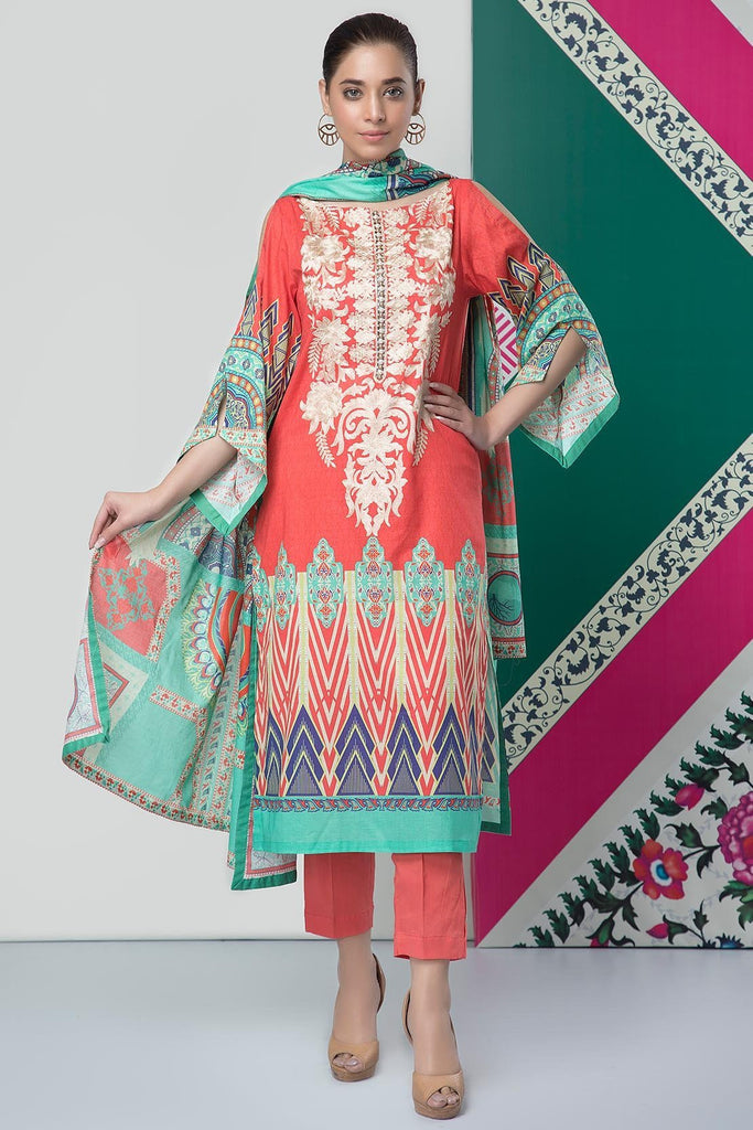 Warda Designer Collection - 3PC Lawn Kashmiri Embroidery 3819090