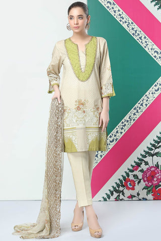 Warda Designer Collection - 3PC Lawn Print with Embroidered Chiffon Dupatta 3819164