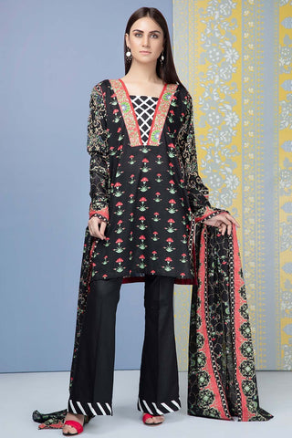 Warda Designer Collection - 3PC Lawn Print 3819209