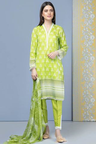 Warda Designer Collection - 3PC Chiffon Lawn Print  with Chiffon Dupatta 7.5 Meters 3819225
