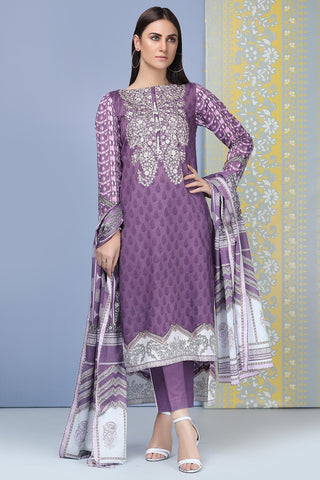 Warda Designer Collection - 3PC Lawn Embroidery 3819240