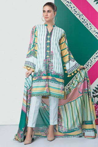 Warda Designer Collection - 3PC Lawn Print 389202A