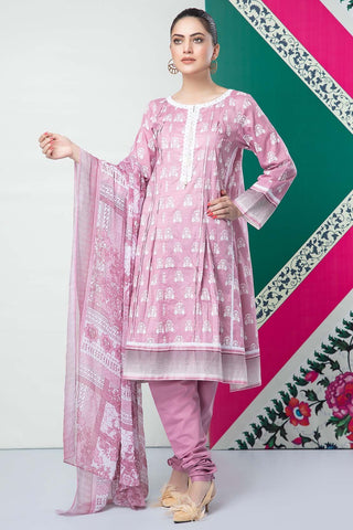 Warda Designer Collection - 3PC Chiffon Lawn Print  with Chiffon Dupatta 7.5 Meters 389225A