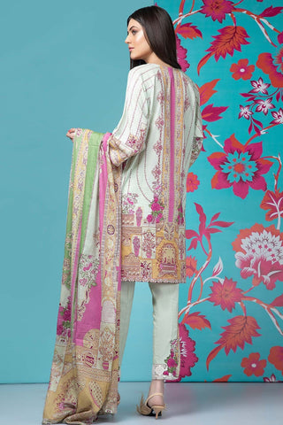 Warda Designer Collection - 3PC Lawn Embroidery 389237A