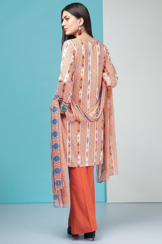Warda Designer Collection - 3PC Lawn Print with Chiffon Dupatta 7.5 Meters 389551A