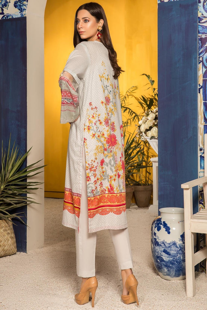 Warda Designer Collection - 3PC Lawn Print with Embroidered Bamber Dupatta 3819160