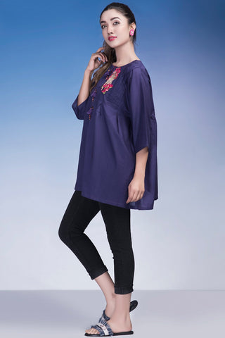 Single Shirt Solid Embroidery LS18183 - Pret - Warda Designer Collection