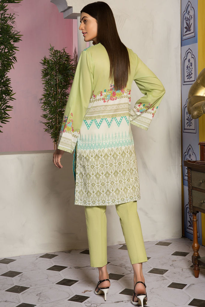 Single Shirt Lawn Chikan Kari with Print 139490A - Unstitched - Warda Designer Collection