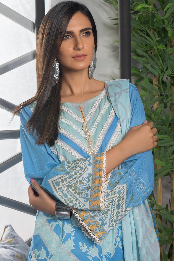 Warda Designer Collection - 3PC Lawn Print 3819211