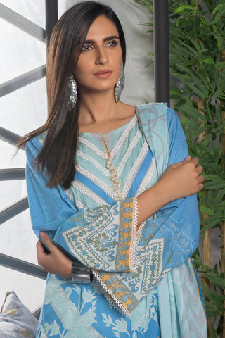 3PC Lawn Print 3819211 - Unstitched - Warda Designer Collection