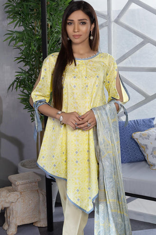 Warda Designer Collection - 3PC Lawn Print 7.5 Meters 389216A