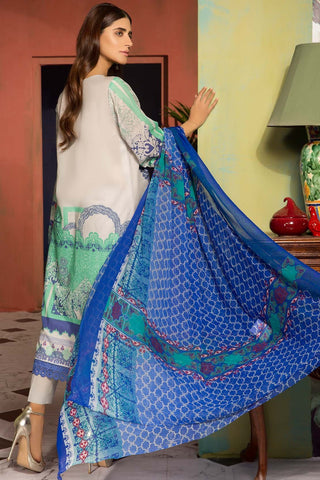 Warda Designer Collection - 2PC Lawn Embroidery with Chiffon Dupatta 2559019