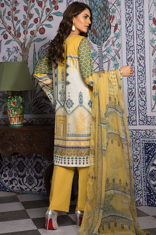 3PC Chiffon Lawn Embroidery 3819409 - Unstitched - Warda Designer Collection