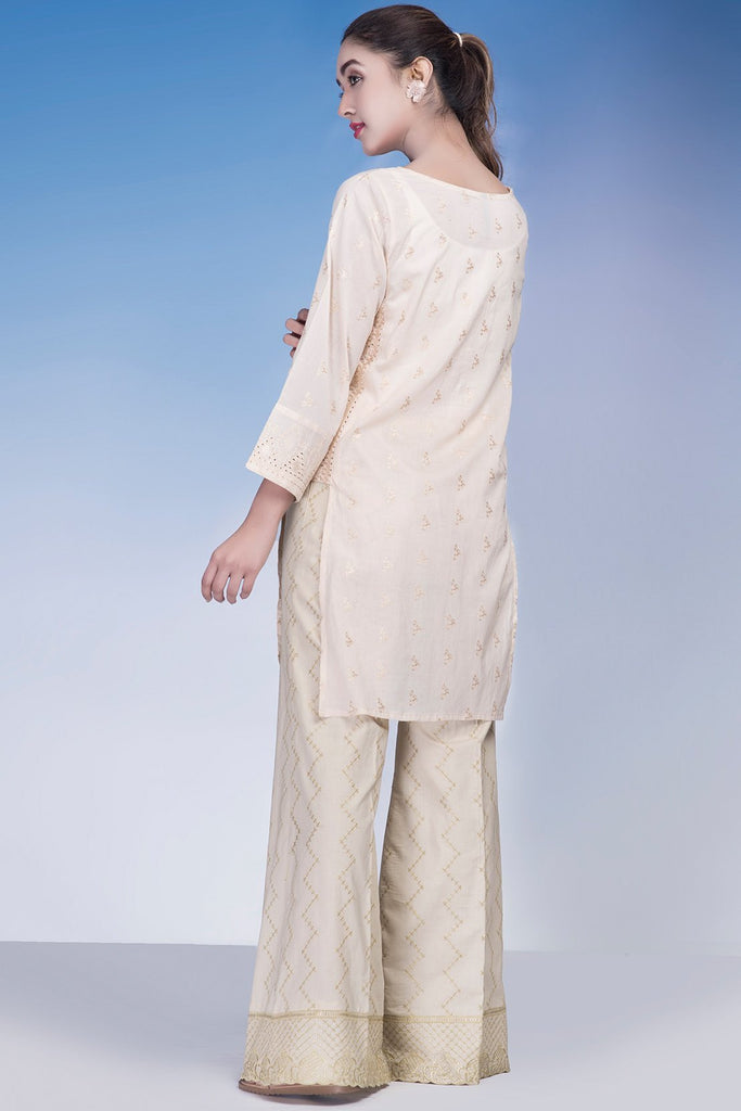 Single Shirt Solid Chikan Kari Emb LS18982 - Pret - Warda Designer Collection
