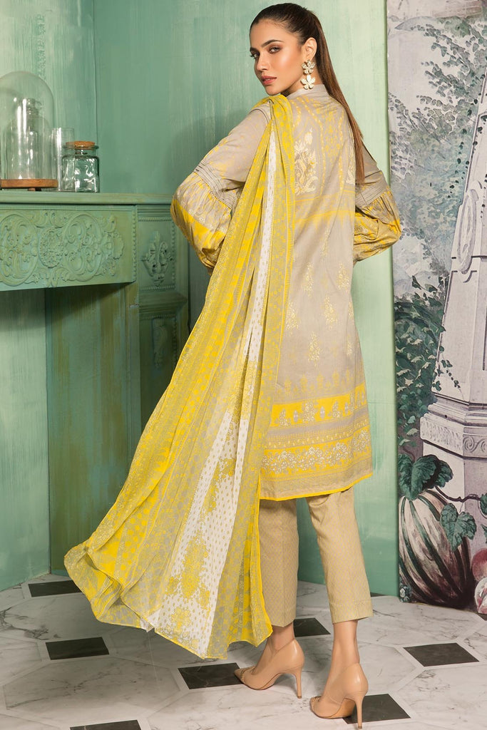 Warda Designer Collection - 3PC Lawn Chikan Kari with Chiffon Dupatta 389072A