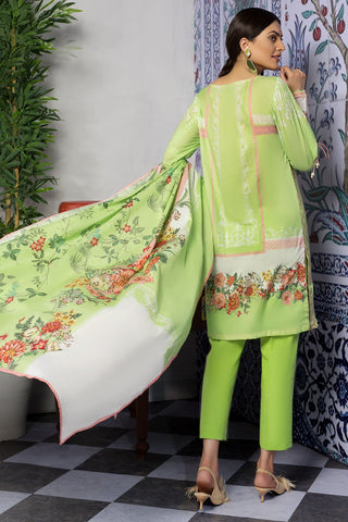 Warda Designer Collection - 3PC Jacqaurd with Digital Lawn Dupatta 3819418