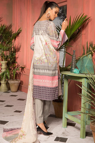 Warda Designer Collection - 2PC Lawn Print with Chiffon Dupatta 2559013