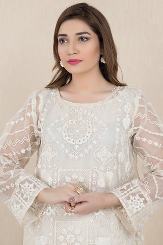 Warda Designer Collection - Formal Embroidered Shirt with Inner LPS1919