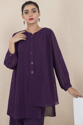 Warda Designer Collection - Flair Solid Shirt LS19209