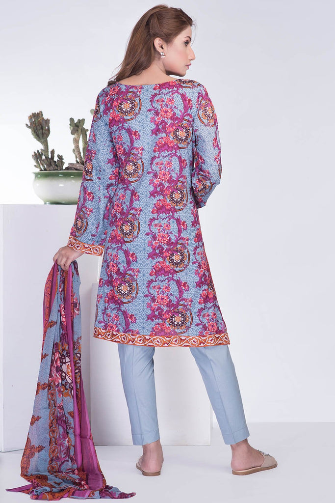 Warda Designer Collection - 3PC Chiffon Lawn Embroidery LS18203