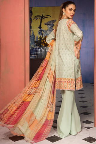 Unstitched - 3PC Lawn Kashmiri Embroidery with Bamber Dupatta 3819085 - Warda Designer Collection
