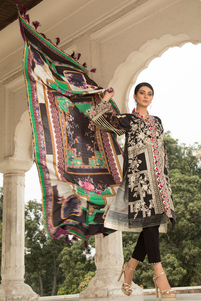Warda Designer Collection - Melange Embroidery (Shawl) 3819860