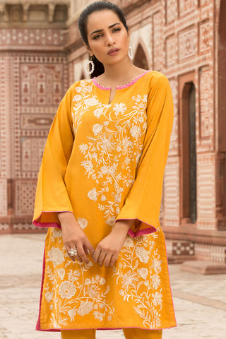 Warda Designer Collection - 2PC Peach Embroidery 2559744