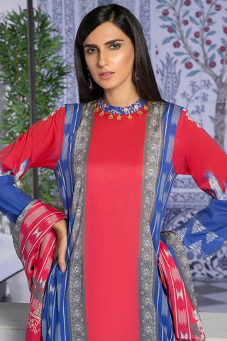 3PC Lawn Print 3819380 - Unstitched - Warda Designer Collection